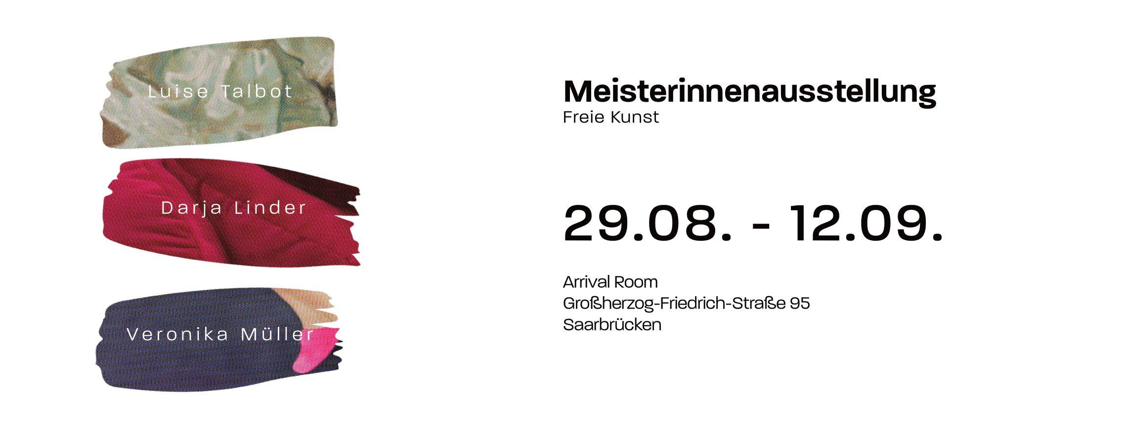 Meisterinnenausstellung HBK Saar